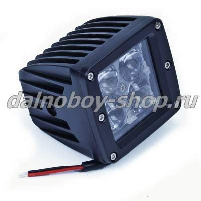 "Фара п/т  универ.DF-5016 FLOOD 3"" 4SMD 16W LED (квадратная без ушек)  12/24v"