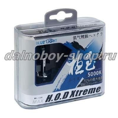 "Лампочка галогеновая ""BLUE LIGHT"" case HOD XTREME H4 75/70W 24v  S/W  2шт (кейс)_2"